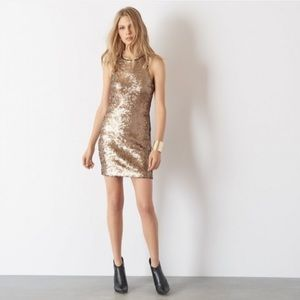 Dynamite gold sequin bodycon dress size Med